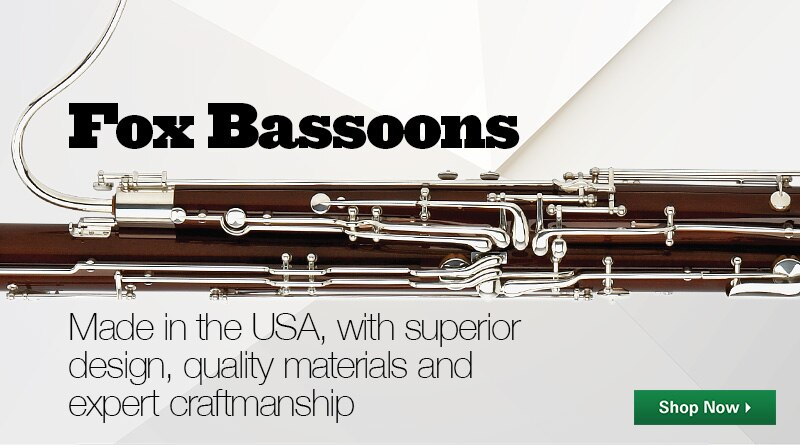 Fox bassoons, made in the USA, with superior design, quality materials and expert craftmanship.