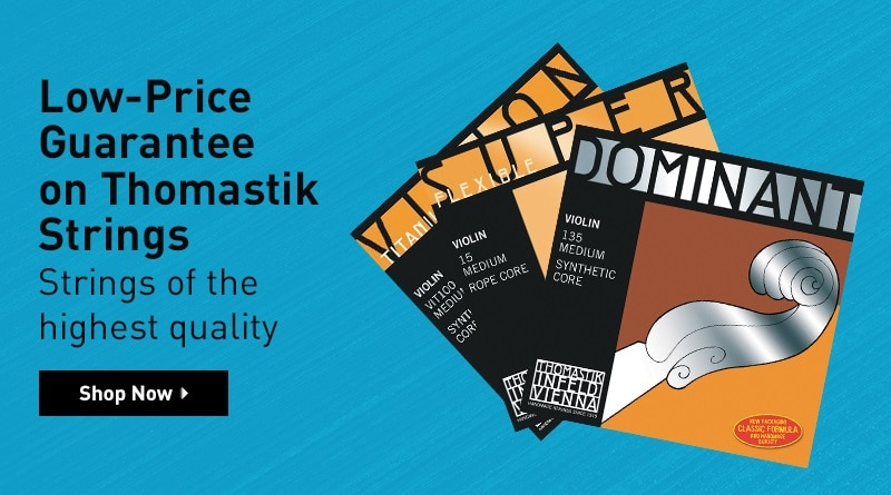 Low-price guarantee on Thomastik Strings. Strings of the highest quality - Shop Now