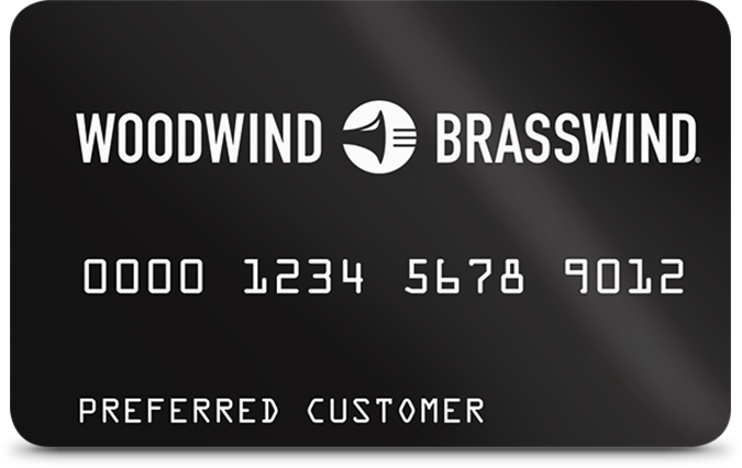 Woodwind Brasswind Preferred Customer Credit Card