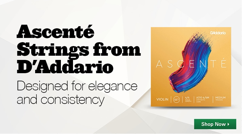 ascente strings from daddario. designed for elegance and consistency.