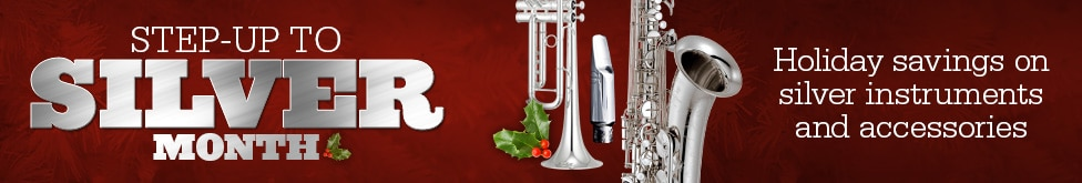 Holiday savings on silver instruments and accessories
