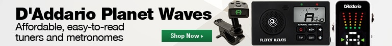 D'Addario Planet Waves Affordable, easy-to-read tuners and metronomes Shop Now