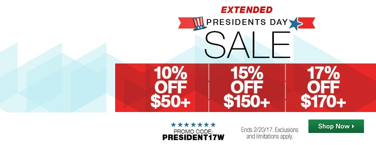 Presidents Day Sale EXT
