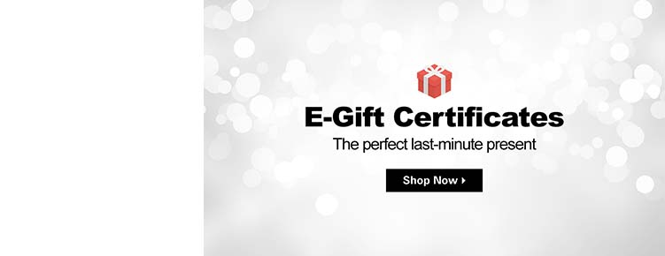 E-Gift Certificates | The perfect last-minute present | Shop Now