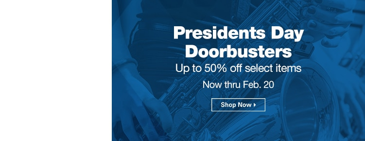 Presidents Day Doorbusters | Up to 50% off select items | Now through February 20th