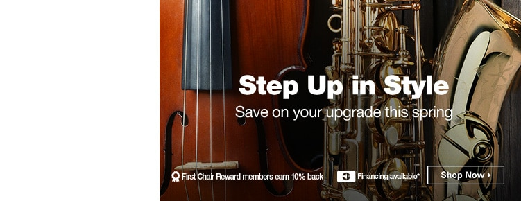 Step Up In Style | Save on your upgrade this spring | First Chair Reward members earn 10% back | Financing Available | Shop Now