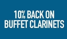 10 Percent Back on Buffet Clarinets