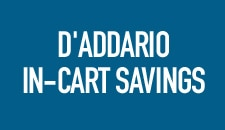 D'Addario In-Cart Savings