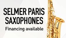 Selmer Paris Saxophones. Financing available.