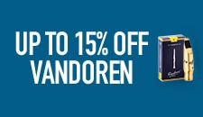 Up to 15 percent off Vandoren