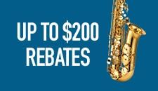 Up to 200 dollar Rebates