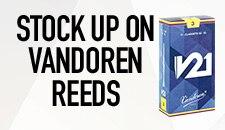 Stock up on Vandoren Reeds