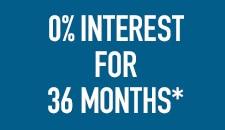 0 percent interest for 36 months*