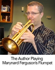 The author playing Maynard's Flumpet