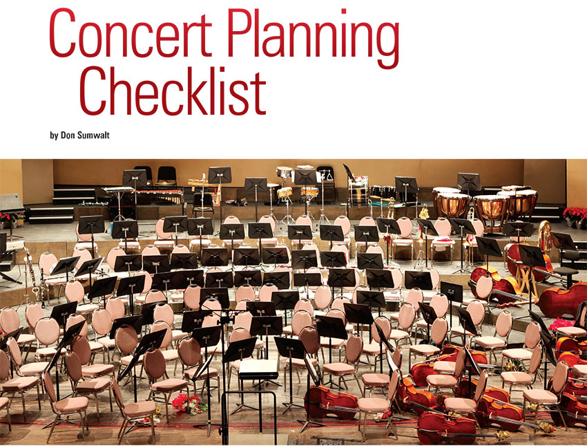 Educator Guide | Concert Planning Checklist : The Music Room